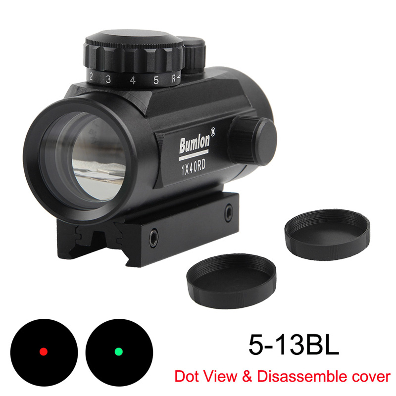 Sight-Scope Rail-Mount Airsoft Collimator Holographic Hunting Green-Dot Red Dot 1x40