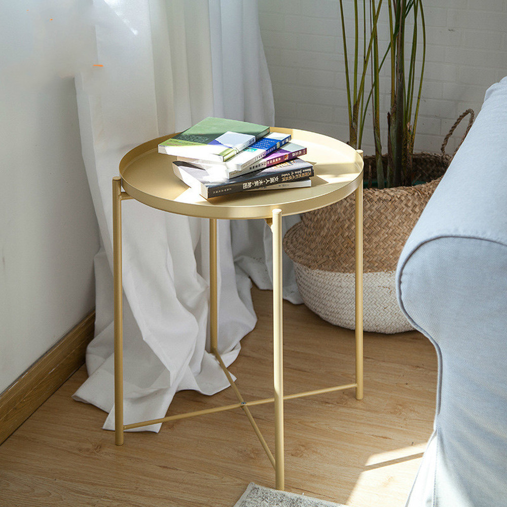 Nordic gold metal tea table table sitting room sofa edge GuiJiao several bedroom the head of a bed side table LM12211043