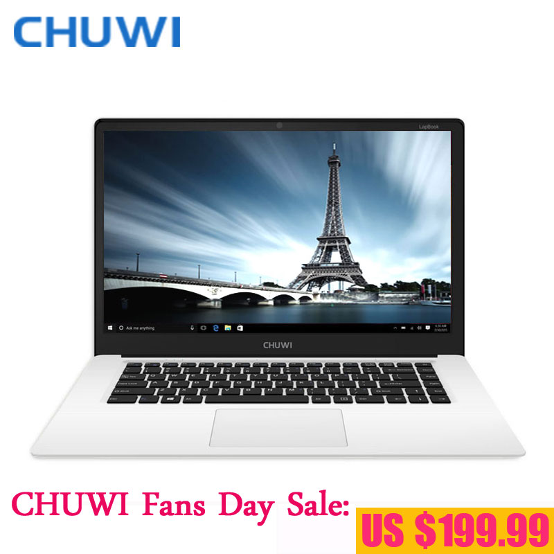 Prix pour CHUWI Fans Jour! chuwi lapbook 15.6 pouce ordinateur portable notebook pc intel cerise z8350 quad core windows 10 4 gb ram 64 gb rom 1920x1080