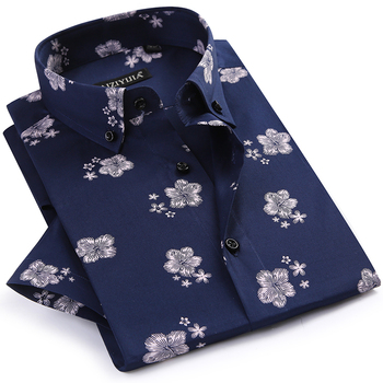 Cotton Short Sleeve Floral Print Shirts