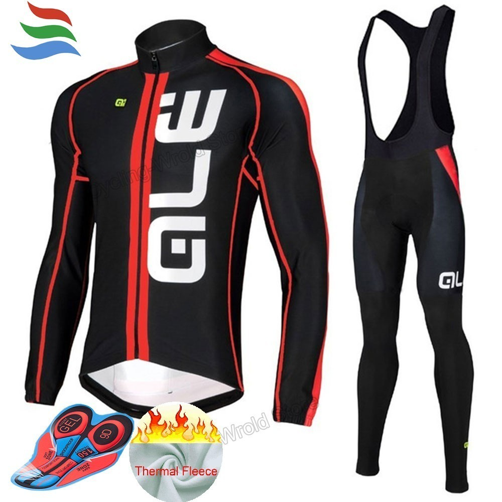 Thermal Fleece Vetement De Velo Pro 9D GEL Pad Ale Ciclismo Good Quality Cycling Jersey Set Men Quick Dry Ropa Ciclista #595