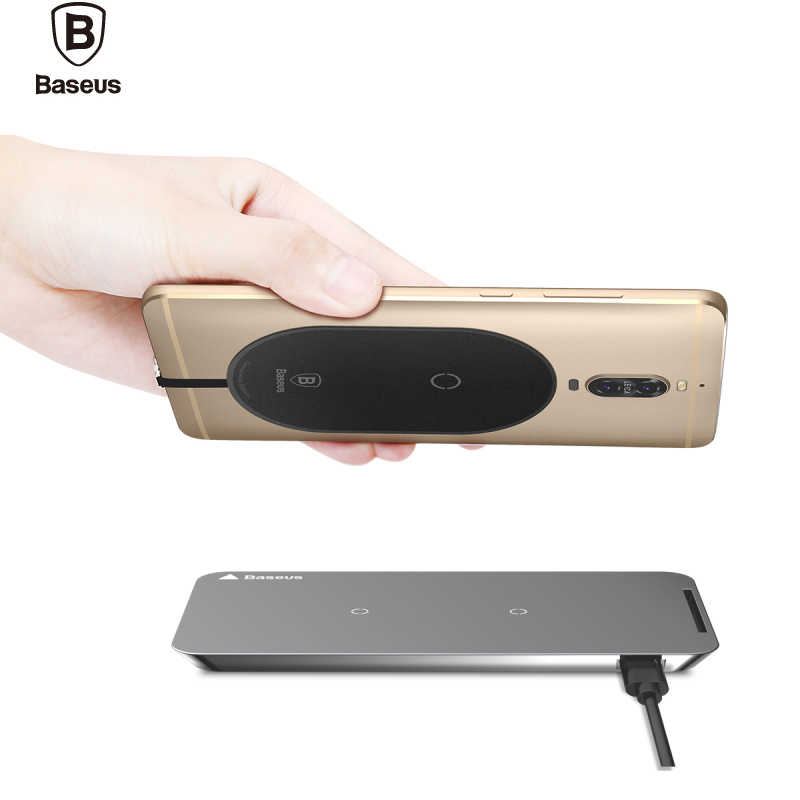 Baseus  Qi Wireless Charger Receiver For iPhone 7 6 6S Wireless Charging Receptor Adapter For Samsung Xiaomi  Phone Ricevitore