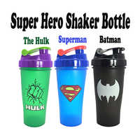Botella Mezcladora de proteína de suero en polvo creativa para deportes con pelota agitadora, botella de agua de proteína deportiva para gimnasio, sin BPA