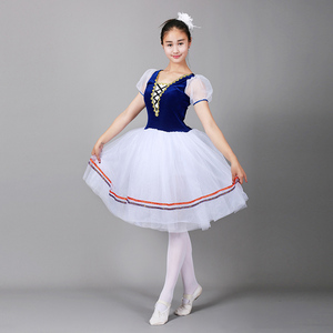 Image 4 - Giselle Ballet Long Tutu Swan Lake Ballet Costume Adults Women Professional Romantic Dress Ballerina Kids Children Dancewear