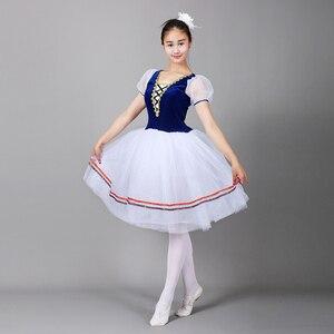 Image 4 - Giselle Ballet Tutu Lungo il Lago Dei Cigni Balletto Costume Adulti Delle Donne Professionali Vestito Romantico Ballerina Bambini I Bambini Dancewear