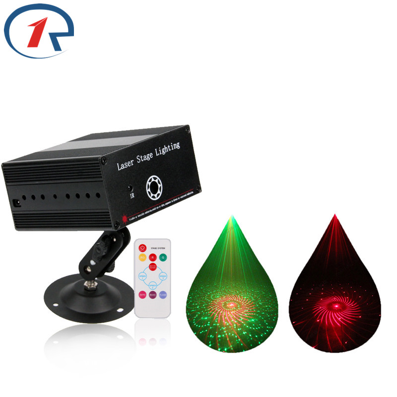 ZjRight laser Projector stage light IR Remote Red Green laser projector lamp gala party bar ktv DJ disco Xmas laser effect light new stage effect mini laser light red disco laser effect projector light show system equipment for dj party ktv