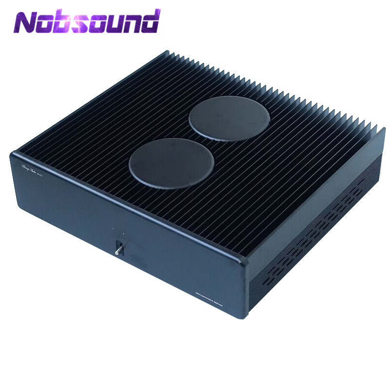 Nobsound Hi-End 2SK170J74 Stereo Amplifier High-power 200W*2 HiFi 2.0CH Power Amp Reference A2 Circuit nobsound hi end audio noise power filter ac line conditioner power purifier universal sockets full aluminum chassis