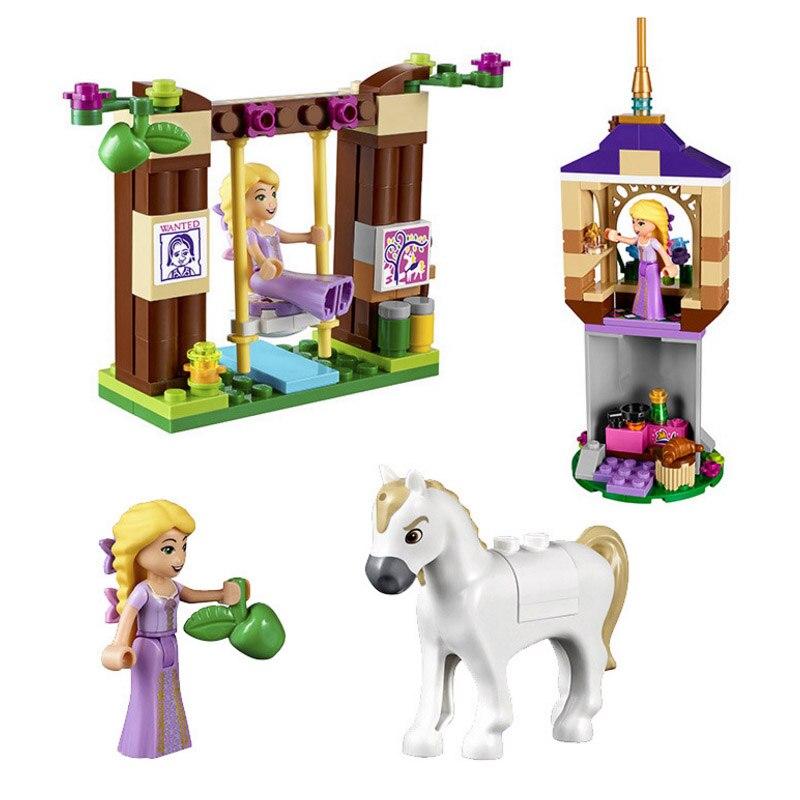 Bela diy Girls Friends Princess Series Rapunzel Castle Gardens Legoings Building Blocks Bricks Toys for children Brinquedos