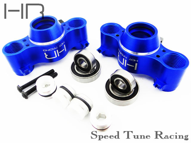Hot Racing Traxxas E-Revo Summit E-Maxx Brushless 3908 Aluminum Steering Knuckles hot racing traxxas revo e revo complete aluminum suspension arm set rvo546712x01