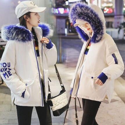 Manteau Coréen 1 Nouvelle 3 2 Fourrure De Col Hiver Veste D'hiver 4 wttdn8qr