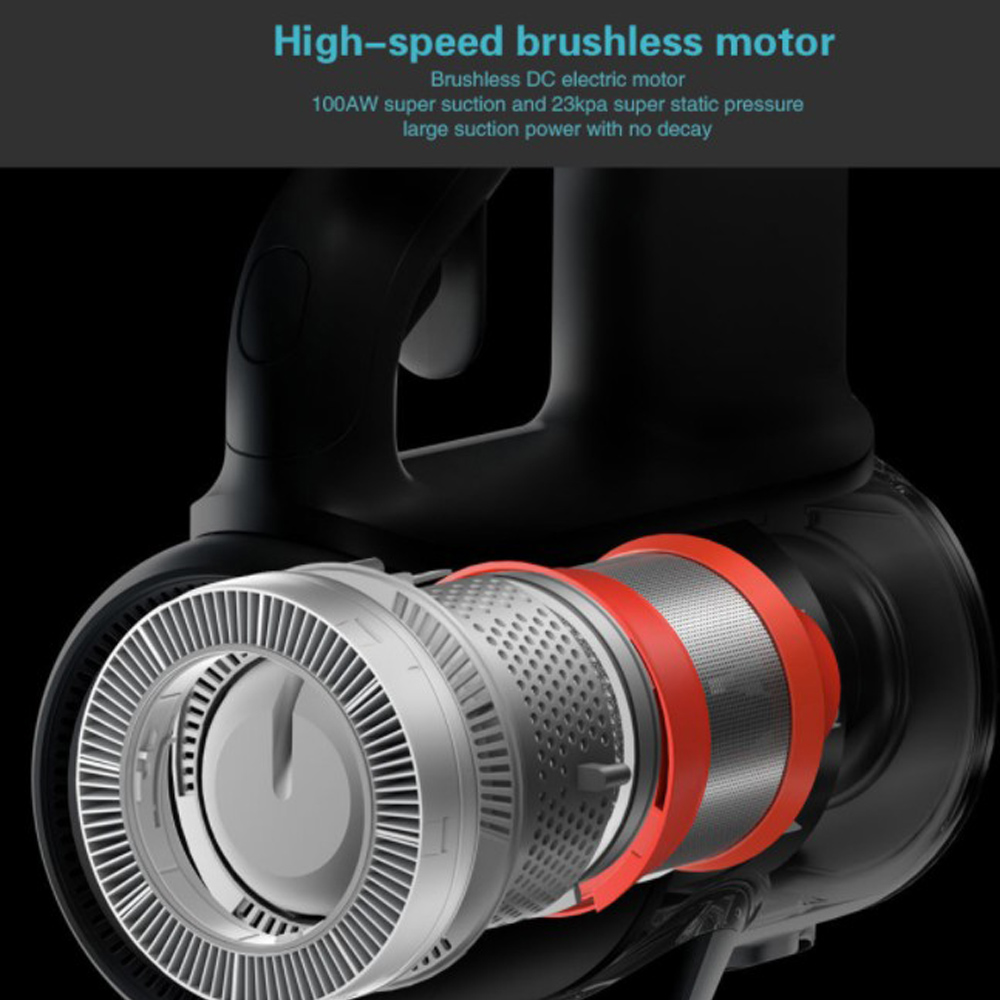 NEW 2019 Xiaomi Mijia Handheld Vacuum Cleaner 23000Pa Cordless Home Car Household Wireless Aspirador 9 Cyclone Suction Device in Vacuum Cleaners from Home Appliances