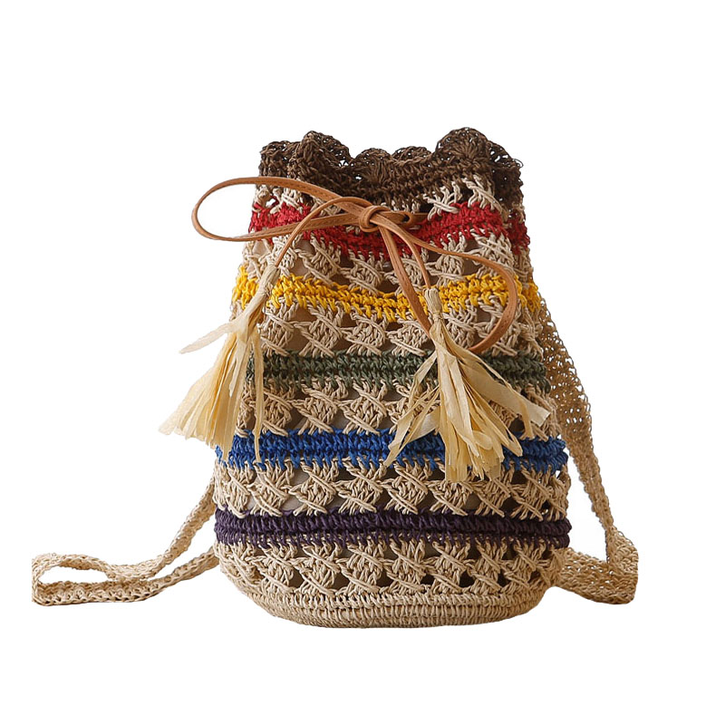 Women INS Popular Straw Bags Summer Beach Hollow Female Backpack Travel Lady Knit Bag Casual Large Back Pack Mochila CL3130