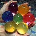 50 unids/lote forma de la bola de 10-12mm gran hidrogel de Gel magia creciente Orbita bolas de agua perlas de agua para las plantas decoración de casa SJ012