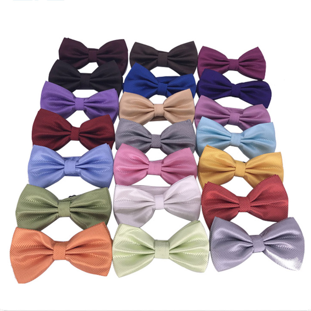 HUISHI Bow Tie Men Bow Tie Solid Fashion Bowties Black Bowtie Gold Bow Tie Red Green Pink Blue White Classic Bowties Men