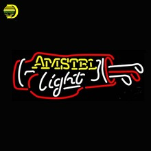 Amstel Light Golf Bag Beer Neon Sign Neon Bulb Handcrafted Glass Tube Sign Affiche Light Recreation Room Windows Cool Lamp 32×13