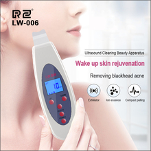 MISMON Ultrasonic Skin Scrubber Deep Face Cleaning Machine Remove Blackhead Reduce Wrinkles Spots Exfoliating Pore Cleaner Tools