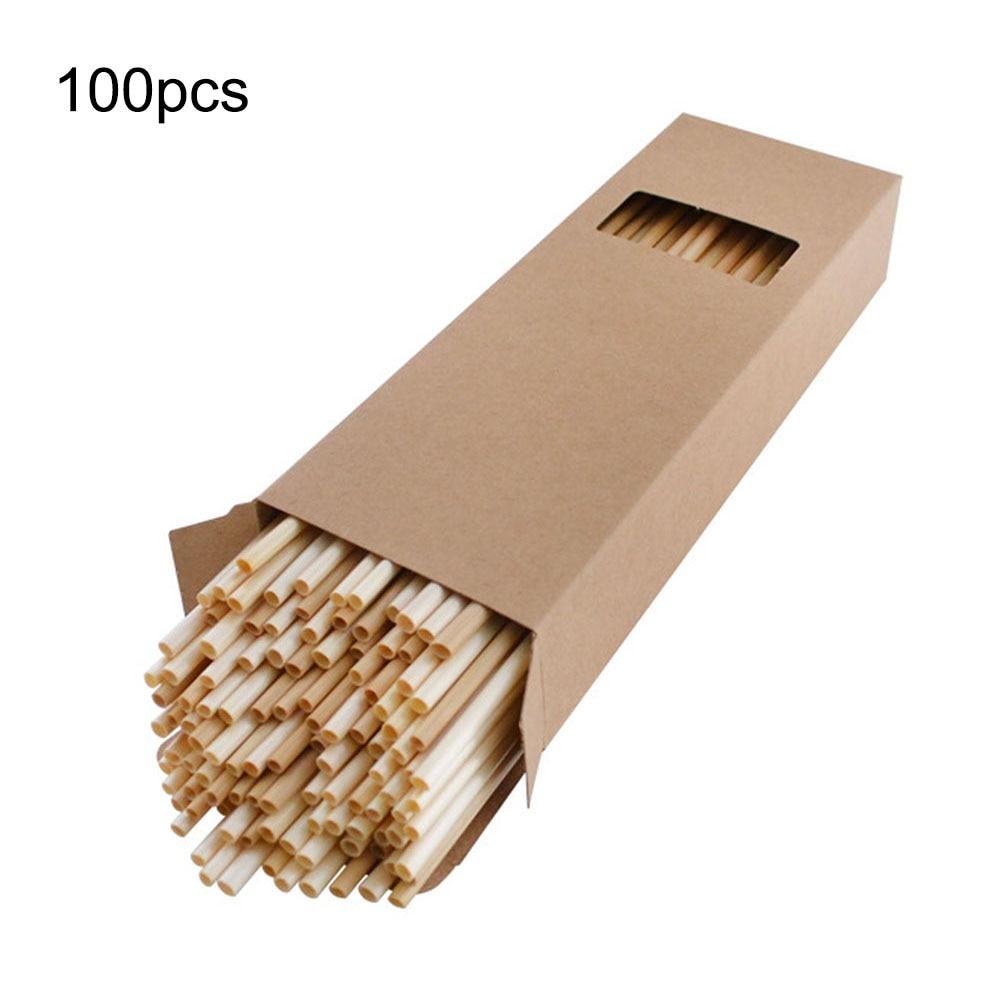 100PCS Wheat Straws Eco Friendly Replacement Plastic Non-polluting Straw Bar Kitchen Accessories