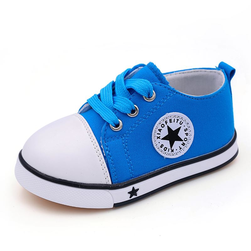 LISSE Childrens Canvas Shoes Girls Boys Flats Fashion Breathable Strap Casual Sneakers Multi-Color Eternal Classic Product