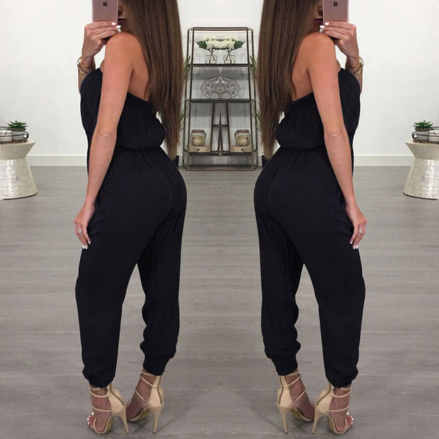 Women Ladies Clubwear V Neck Playsuit Bodycon Party Jumpsuit Romper Trousers 4