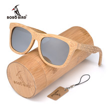 988fdc587 بوبو الطيور العلامة التجارية الرجعية الخيزران النظارات الشمسية النساء و  الرجال مع الفضة عدسات قطبية نظارات كما أفضل الرجال الفاخ.