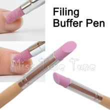 1pcs Nail Art Buffer Filing Buffering Sanding Sticker Trimmer Brush Pen Dead Skin Cuticle Remover Tool