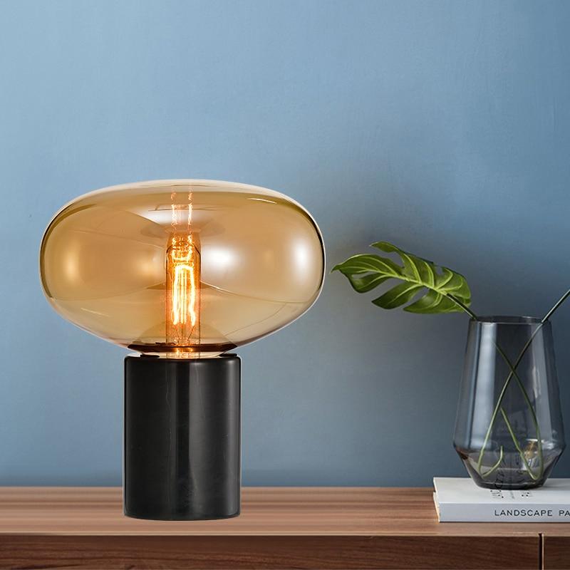 Nordic stil nacht lampe wohnzimmer glas hotel einfache post moderne schlafzimmer kreative büro zimmer lampe - 2