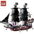 ILUMINA 1313 Bloques de Construcción de Bloque 1535 Unids Piratas del Caribe En General Negro Nave Ladrillos Modelo Juguetes para Niños de Regalo de Navidad