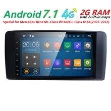 Ventas al por mayor! 2 Din 9 Pulgadas Android 7.1.1 Coche de Navegación Para Mercedes/Benz ML/GL CLASS W164 ML350 ML500 GL320 Canbus Wifi GPS Radio