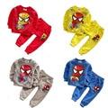 2016 Spring Autumn Baby Boys Cartoon Spider-Man T-shirt + Pants Two Piece Suit Infant Toddler Clothes Set Children's Outfits Set