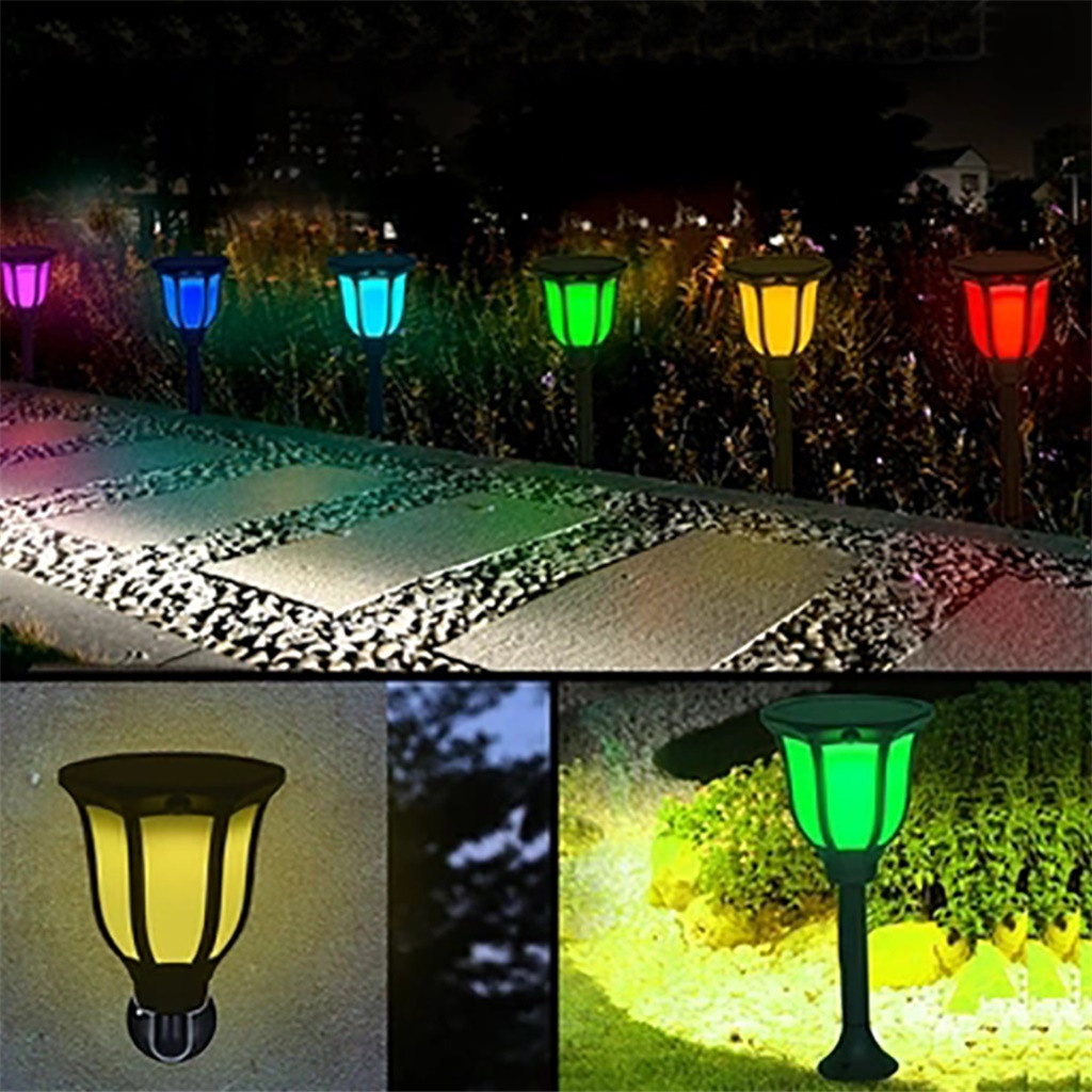 US $13.45 56% OFF|Solar underground light Waterproof Garden Flickering Lamp  Decor colorful courtyard wall lawn lamp decoration jardin exterieur-in ...