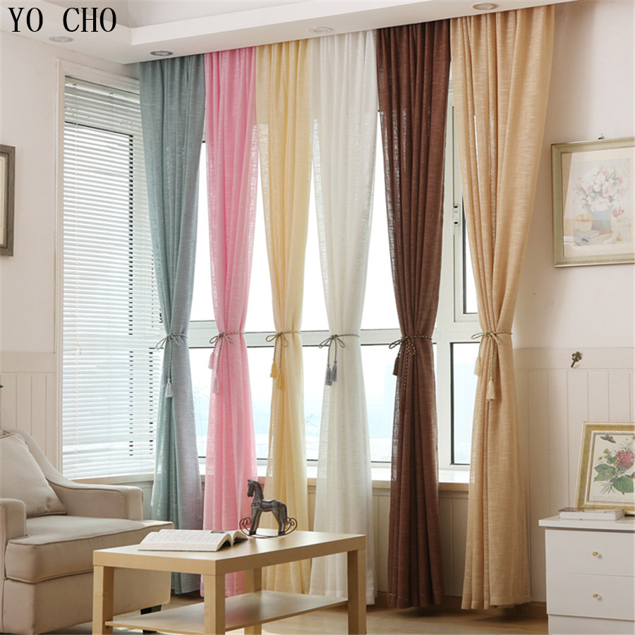 multicolor thicken linen curtains cheap custom window treatments pink curtains modern curtains for living room home