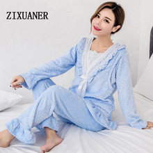 ZIXUANER Soft Maternity Nursing Nightgowns Full Pajamas for women Pregnant Breastfeeding Sleepwear Cotton Loungewear Clothes Set