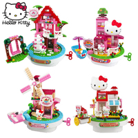 Hello Kitty Mini Block Amusement Park Building Blocks Toys Assembled Building Blocks Imagination Learning Toy Children Gift