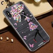 CASEIER 3D Emboss Phone Case For iPhone X 7 Soft TPU Silicone Cases 6 6s 8 Plus Umbrella Girl Sexy Funda Capinha