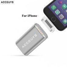 ACCGUYS для iOS 11 микро-к освещению Магнитный адаптер металлический кабель для мобильного телефона зарядное устройство зарядный конвертер для iPhone X 8 7 iPad