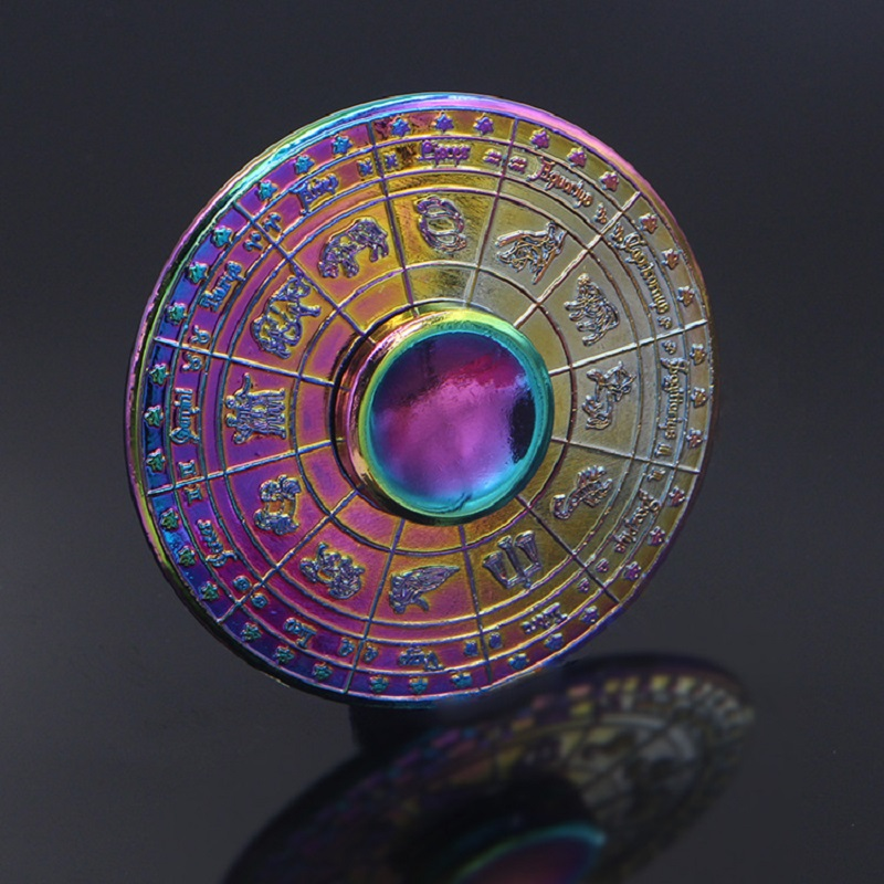 The 12 Chinese Zodiacs Autism And ADHD Kids Adult Hand Spinner Colorful Round Wheel High Speed