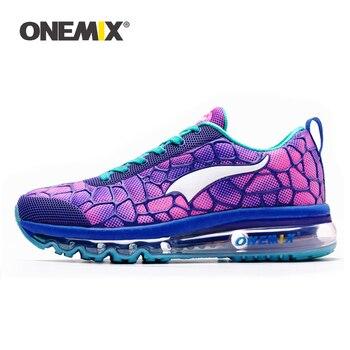 ONEMIX Tênis Feminino Running Shoes Da Menina Macia Palmilha Desodorante Eliminar a Umidade Para O Atlético Corrida Caminhadas Sapatos Ao Ar Livre