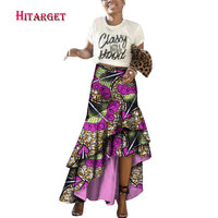 african skirts for women with irregular lace african dresses for women plus size cotton african print skirts ankara skirt WY3681
