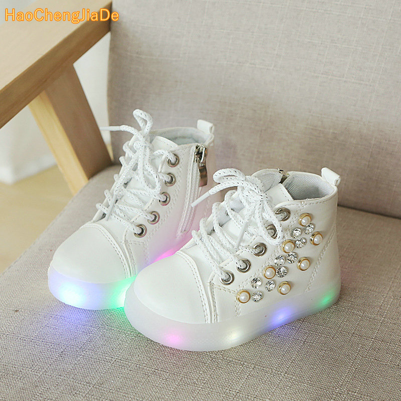 KIDS 2018 Spring Baby Pu Leather Trainer Children Fashion Glitter Casual Shoe Girl Pearl Sport Sneaker ToddlerKIDS 2018 Spring Baby Pu Leather Trainer Children Fashion Glitter Casual Shoe Girl Pearl Sport Sneaker Toddler