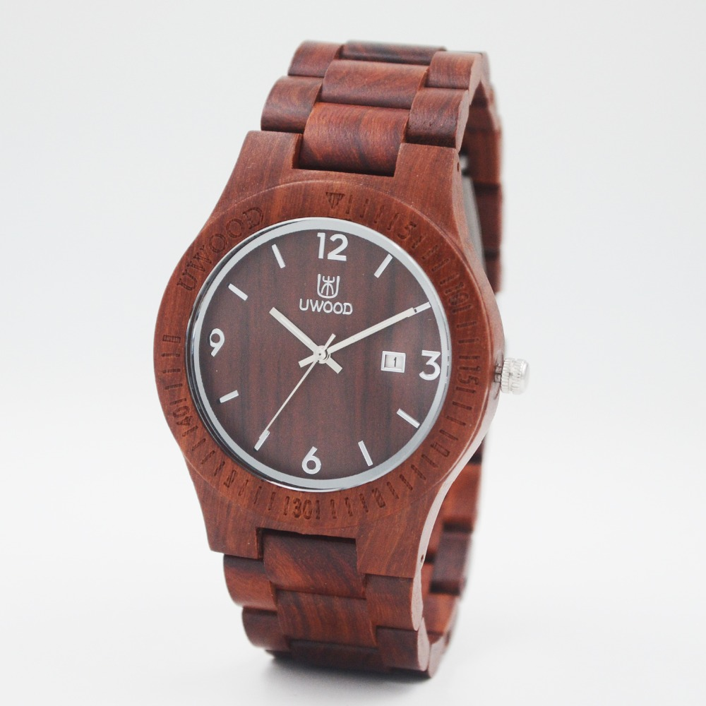 Natural Wooden Watches Men Antique Wood Watch Luxury Casual Male Date Quartz Wristwatch Shock Resistant relogio masculino UWOOD ultra luxury 2 3 5 modes german motor watch winder white color wooden black pu leater inside automatic watch winder