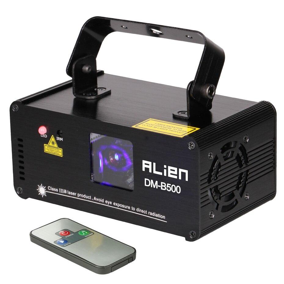 500mw Blue Beam Laser Show Single Lens Pro Laser Scanner Sound Active DMX 512 Programmable Disco
