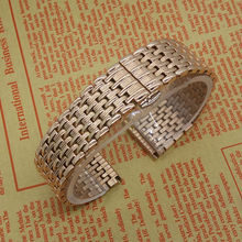 New arrival 18mm 20mm 22mm Stainless Steel Straps Bracelets Rosegold Men Quartz Watches Accessories Hot selling
