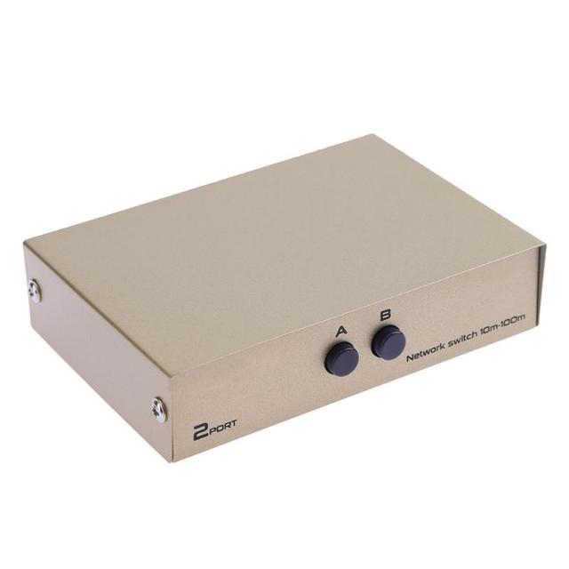 2 in 1 네트워크 스위처 2 포트 rj45 lan cat 네트워크 스위치 선택기 pc 컴퓨터 용 내부 외부 스위처 분배기 상자