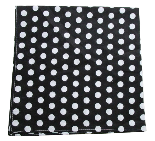Free Shipping 2018 New Hip Hop Cotton Black White Polka Dot Bandanas/ Hair Band Scarf Mens Womens Men's Scarves