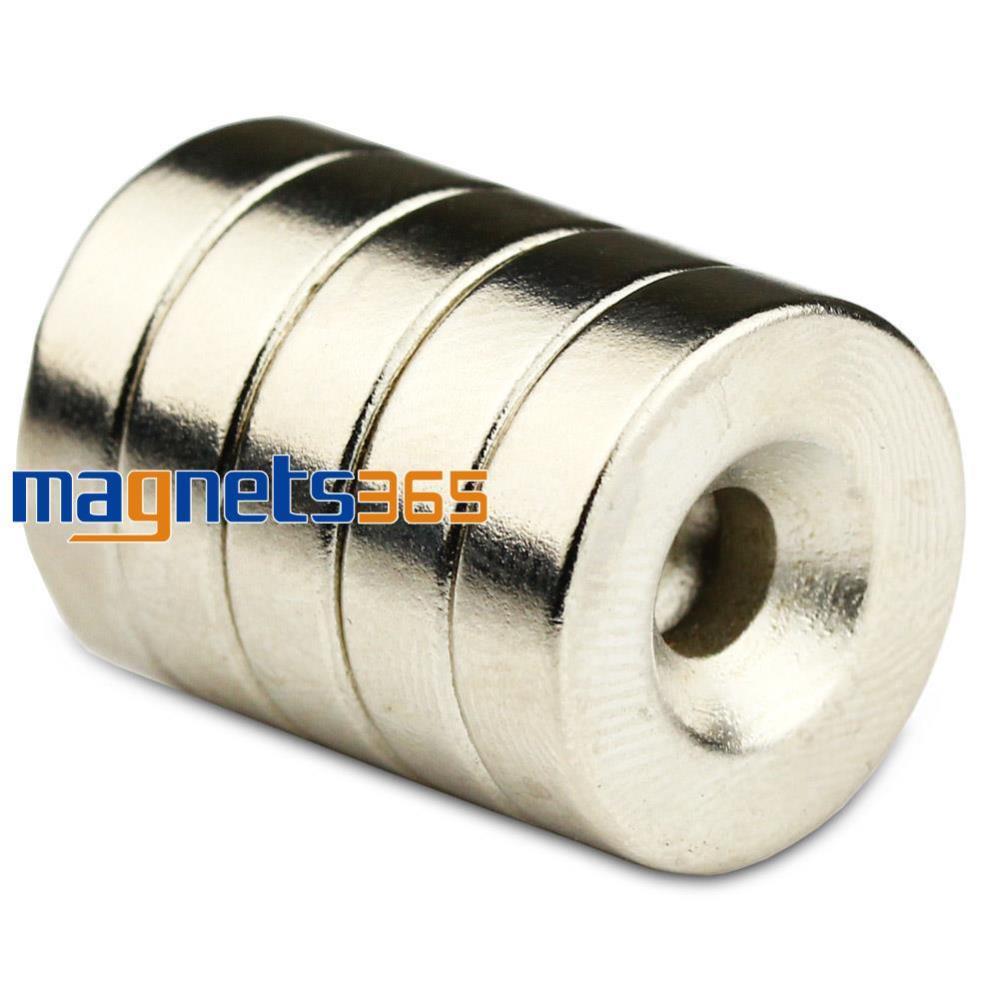 OMO Magnetics 5pcs Small Disc Ring Magnets 18mm x 5mm Hole 5mm Round Rare Earth Neodymium N50 diy 5mm round neodymium magnets purple 216 pcs