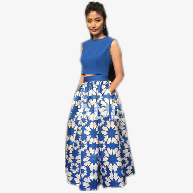 Crop Top And Long Skirt Set - Skirts