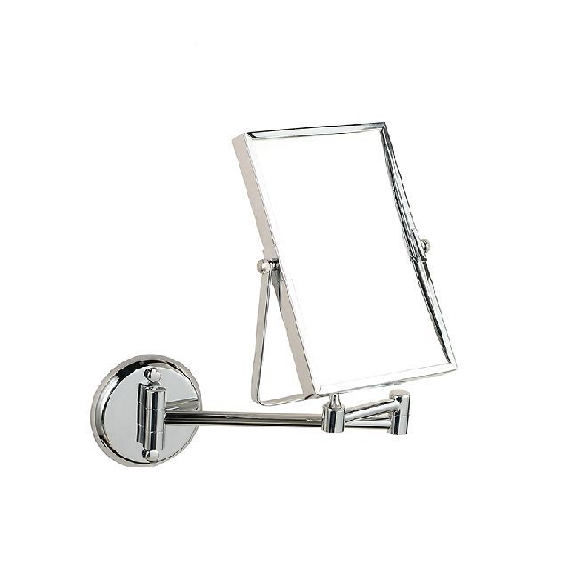 High Quality 8 Dual Makeup Mirrors 1:1 And 1:3 Magnifier Copper Cosmetic Bathroom Double Faced Wall Mounted Bath Mirror 1758