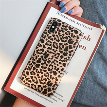 Fashion Leopard print Phone Case For iphone XS Max XR X Case For iphone 6 6S 8 7 plus Back Cover Luxury Soft Cases Matte Capa