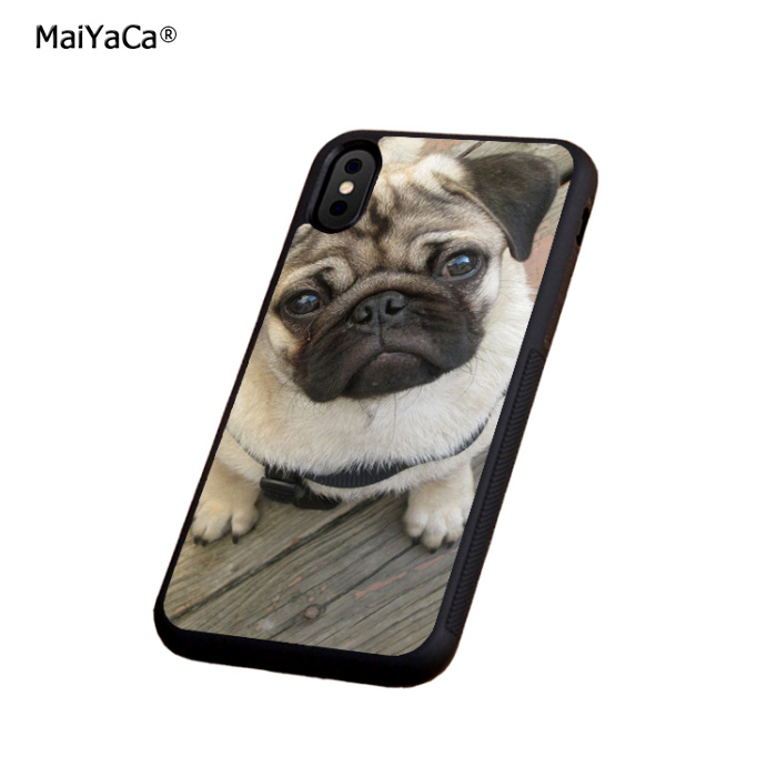 pug dog animale soft silicone edge phone cases for apple iPhone x 5s SE 6 6s plus 7 7plus 8 8plus XR XS MAX  cover case