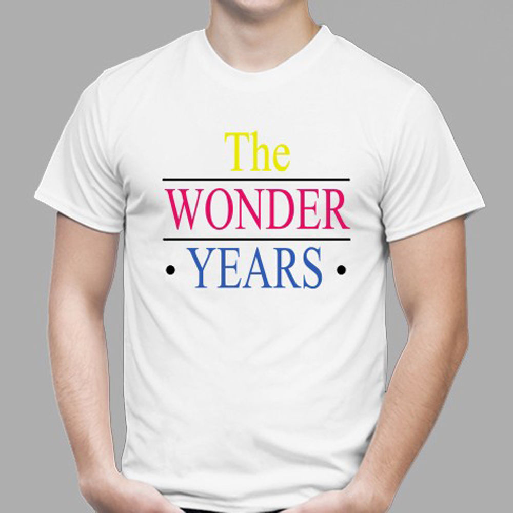 New The Wonder Years 80s 90s TV Show Men's White T-Shirt Size S to 3XL image